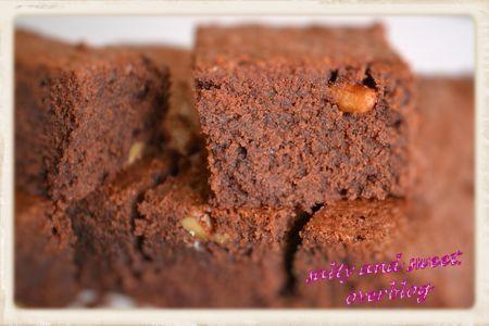Brownies chocolat amer aux noisettes de Pierre Hermé