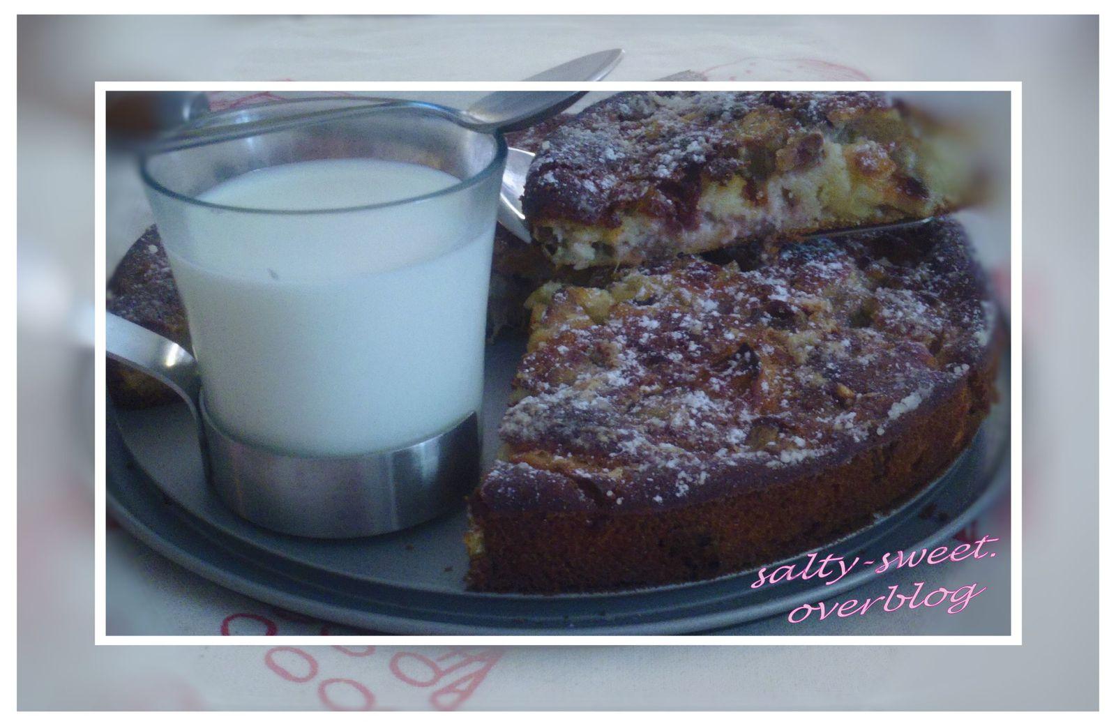 Gâteau à la Rhubarbe pomme &amp&#x3B; amande