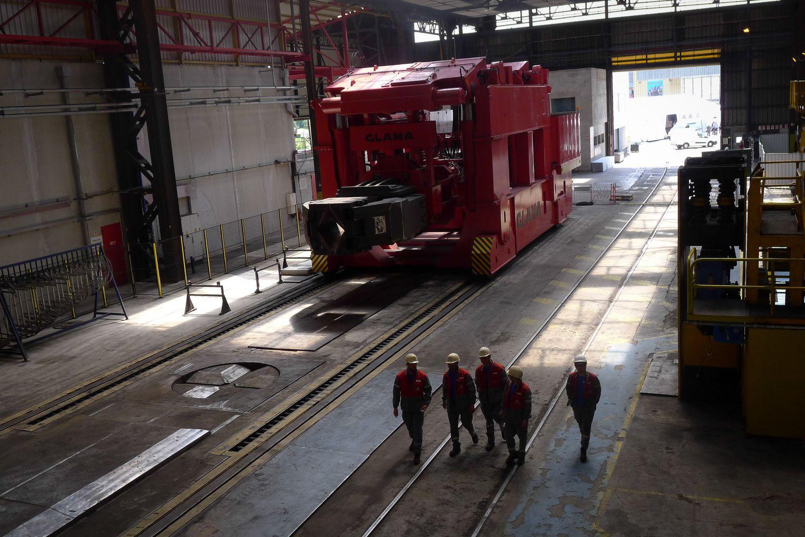 Inauguration d'une presse AREVA avec VALS