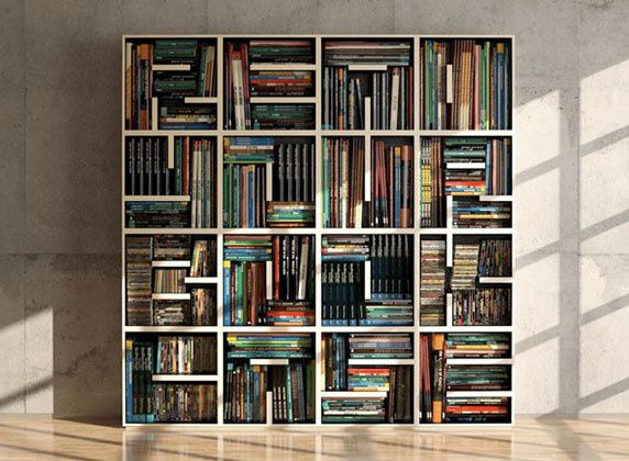 une biblioth que modulable originale mes envies d co. Black Bedroom Furniture Sets. Home Design Ideas