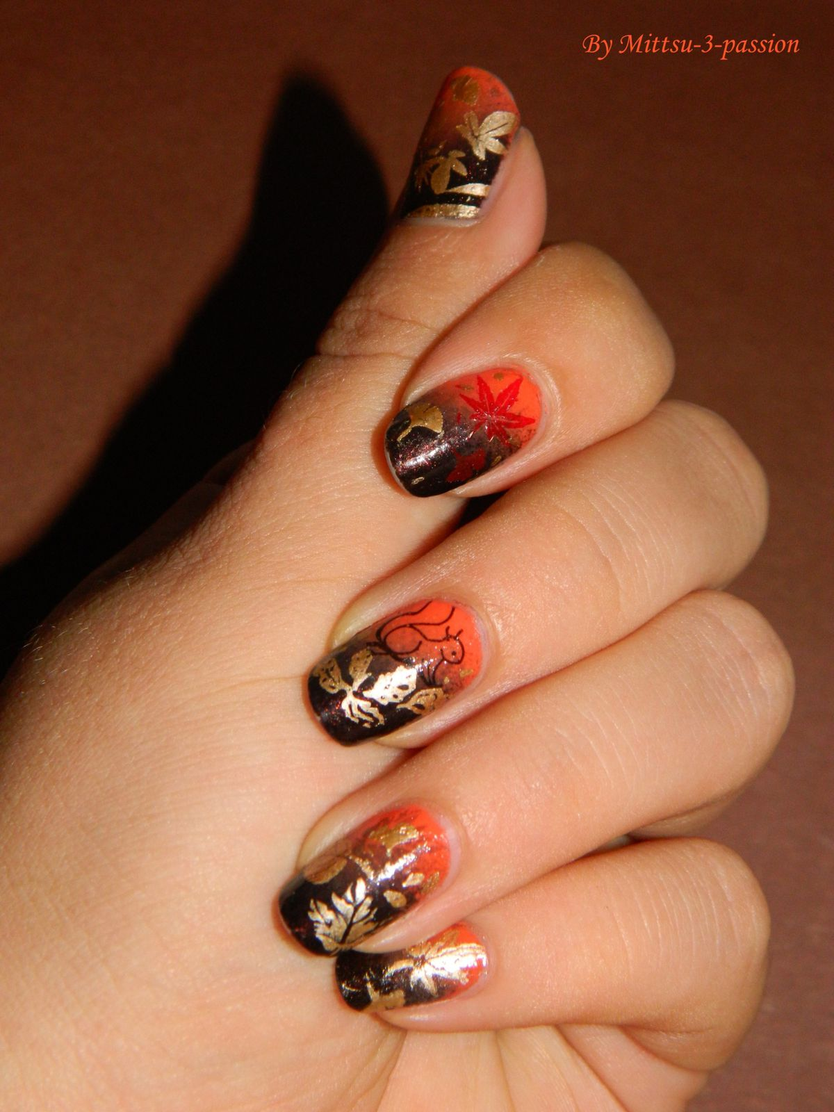 Nail art automnale