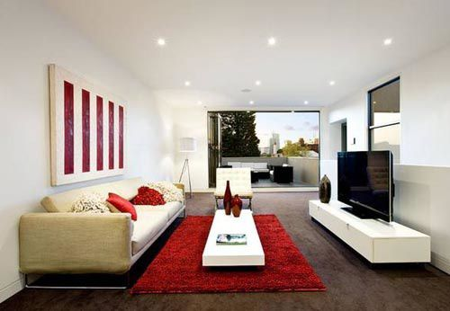 Furniture arrangement tips for rectangular living rooms for Rectangular living room designs