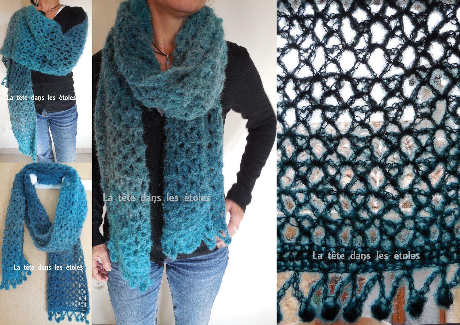 Echarpe vintage au crochet