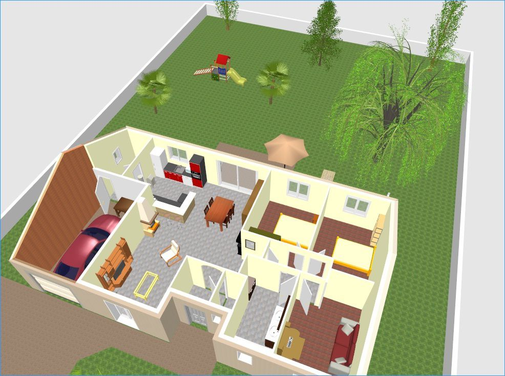 Le plan for Plan maison gratuit 3d