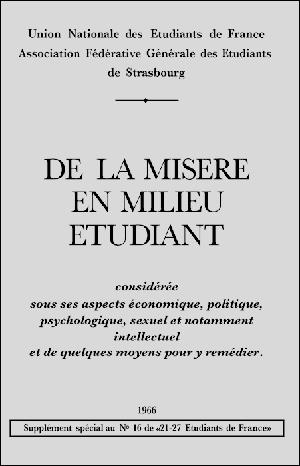 DE LA MISÈRE EN MILIEU ÉTUDIANT - MORCEAUX CHOISIS