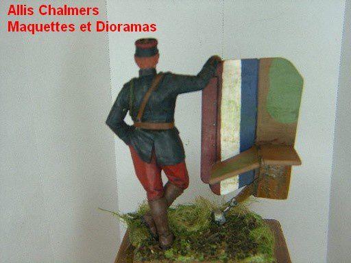 Figurine pilote francais 14/18 - 2- Peinture  -