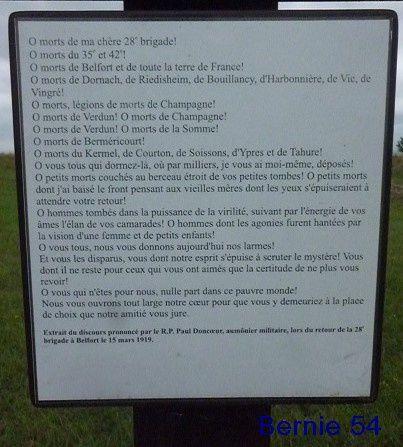 """MONUMENT - OSSUAIRE DE """" LA FERME de NAVARIN"""""""