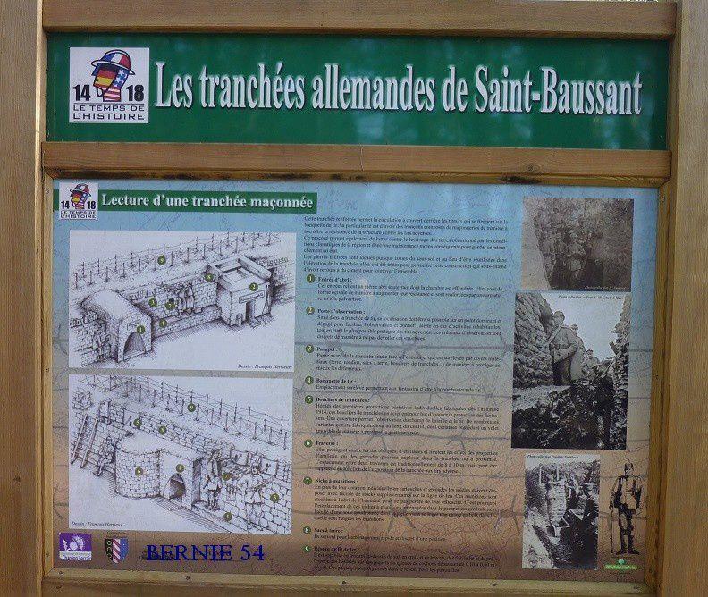 Les Tranchées allemandes de Saint BAUSSANT - 1 -