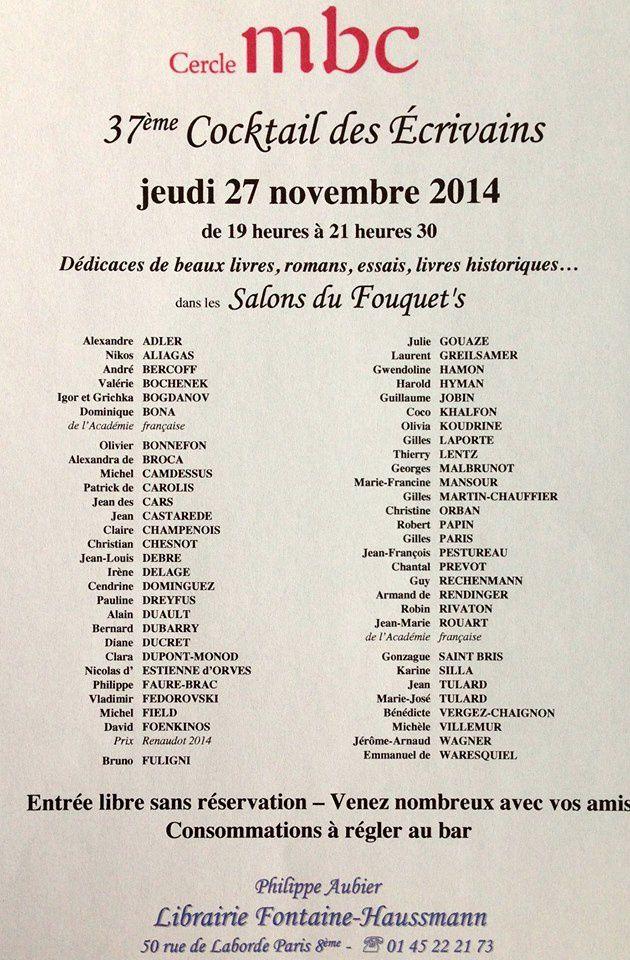 Jean Louis Debré et Valérie Bochenek, signatures au Fouquet's, Cercle MBC