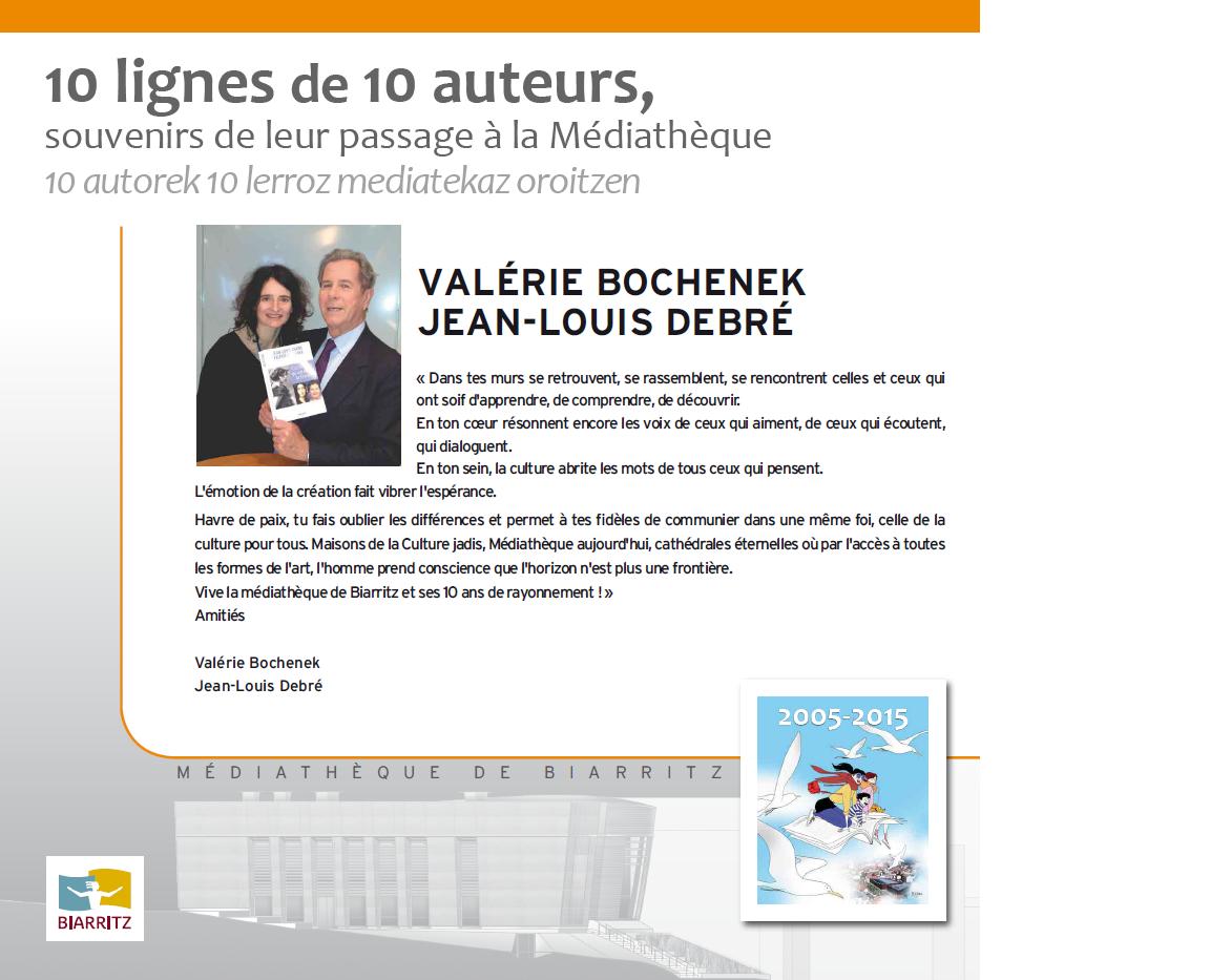 Jean Louis Debré et Valérie Bochenek fêtent les 10 ans de la médiathèque de Biarritz
