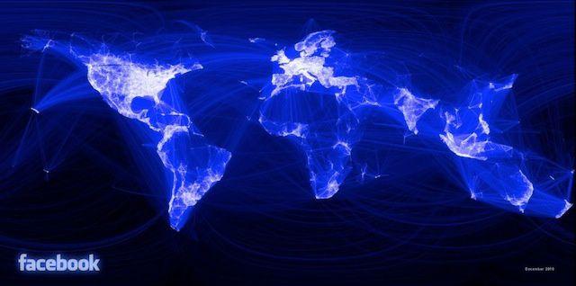 Relations entre membres Facebook dans le monde entier