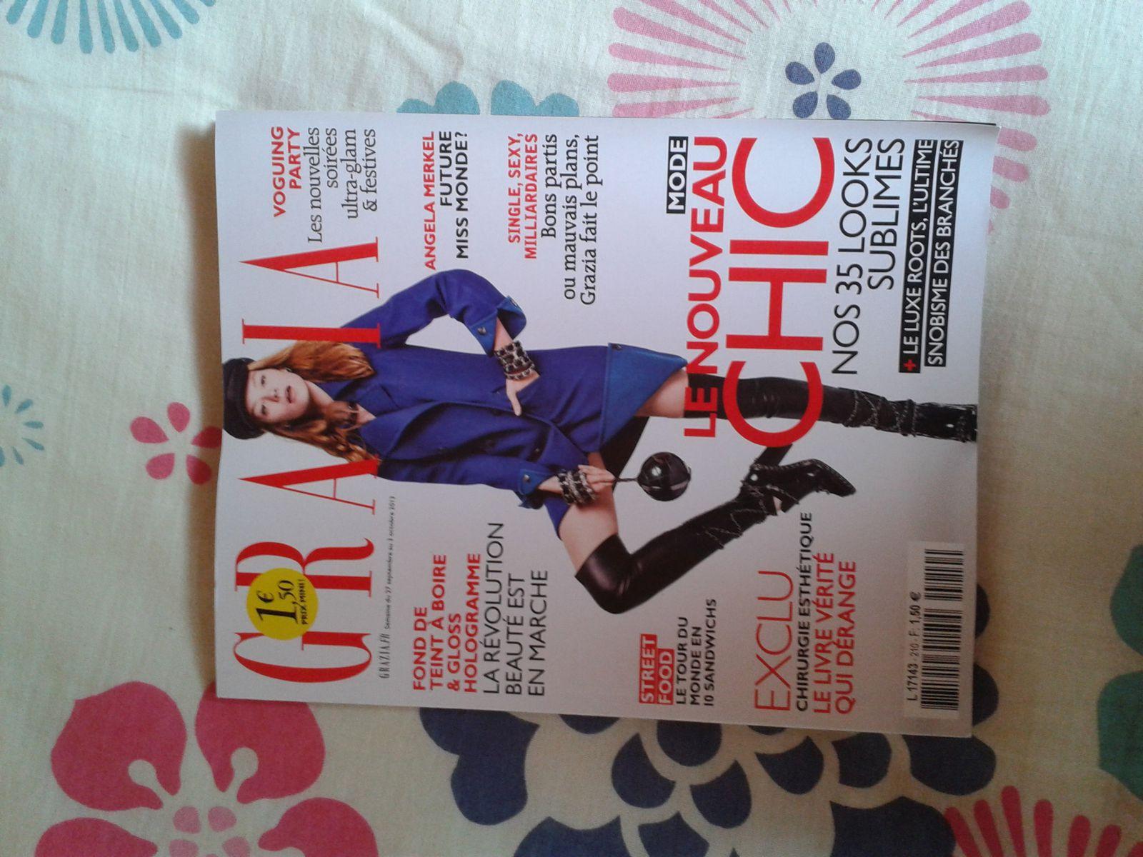 Le magazine Grazia...