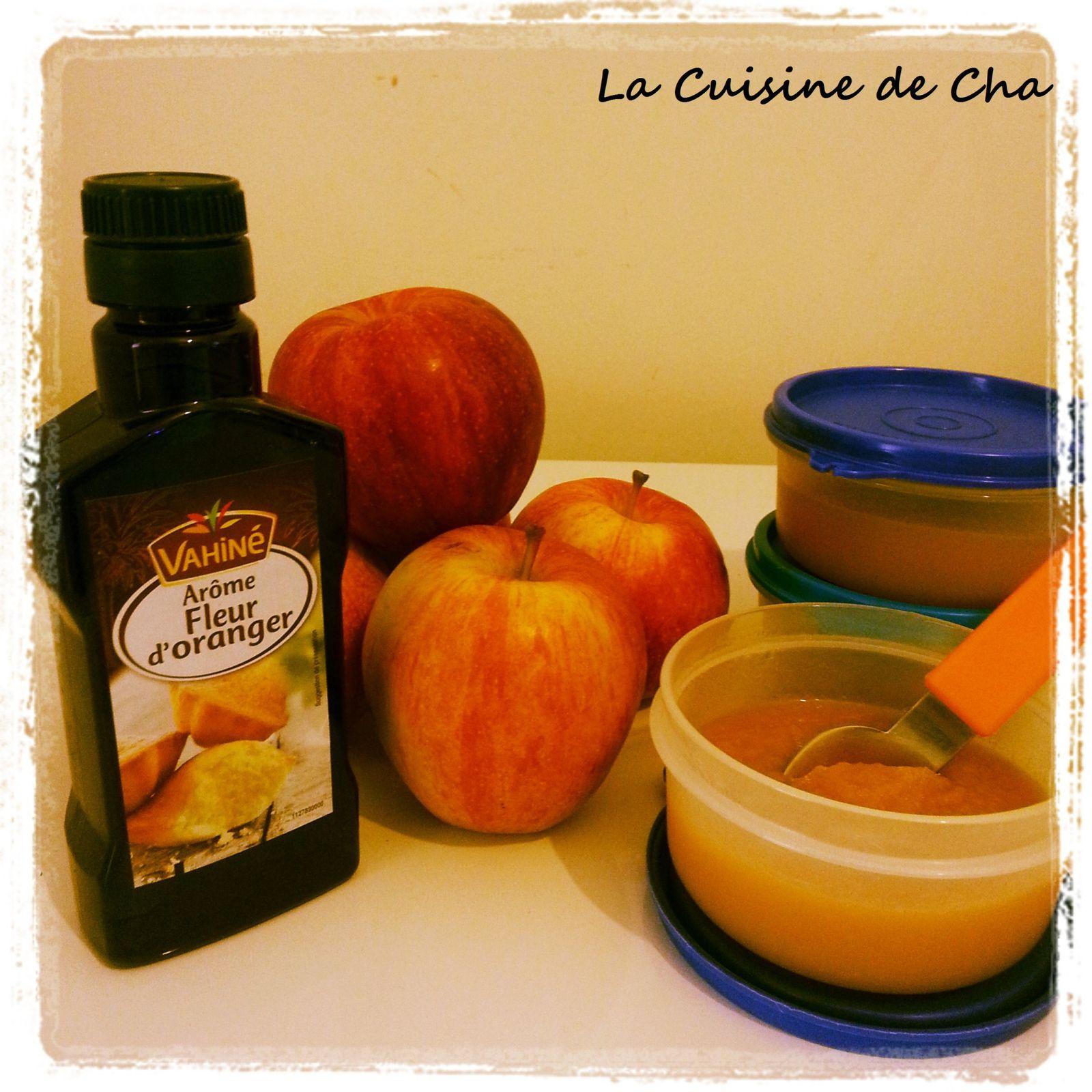 Compote De Pommes A La Fleur D Oranger La Cuisine De Cha