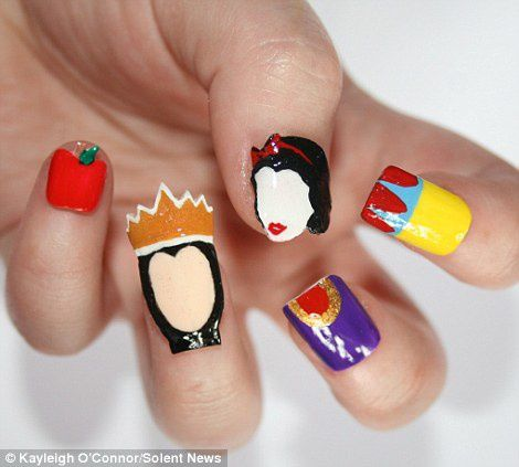 Nail art original sur des films