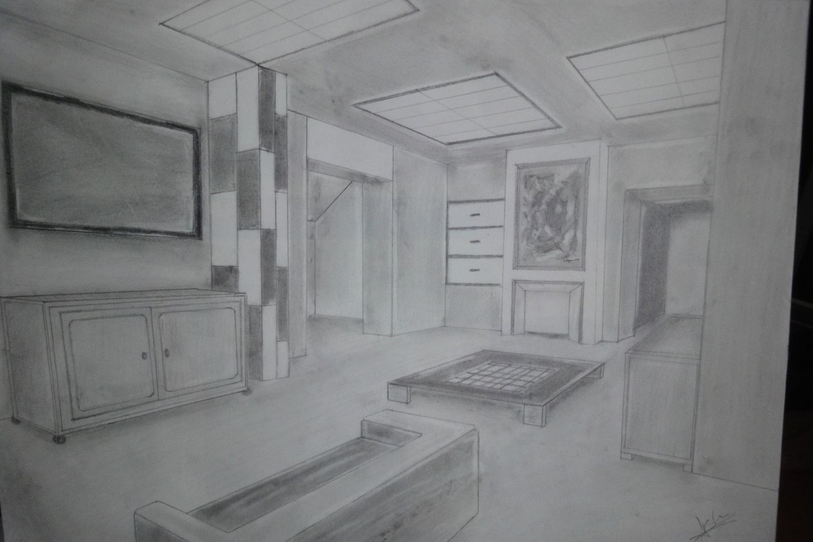 Salon miller urrea blog for Dessin chambre perspective