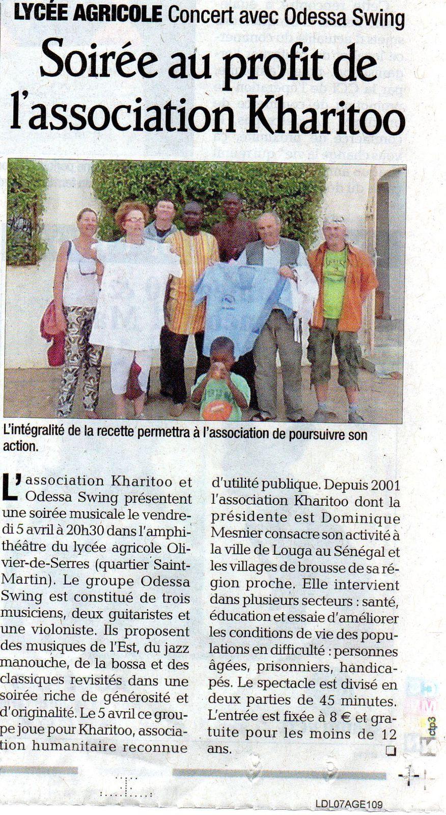 Soirée Jazz Manouche organisée par KHARITOO