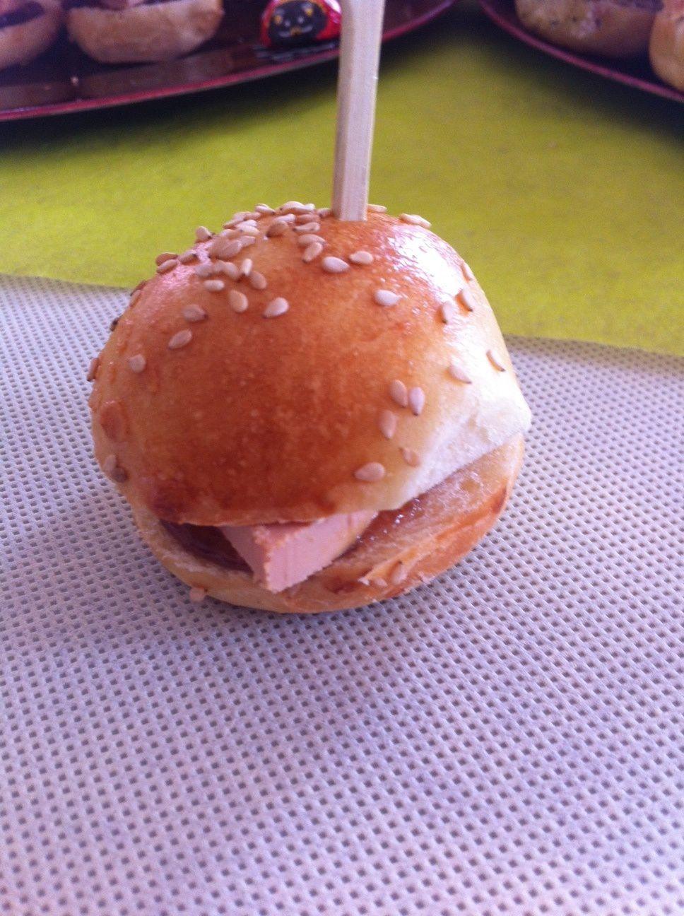 Minis burgers foie gras figues ( sans thermomix)