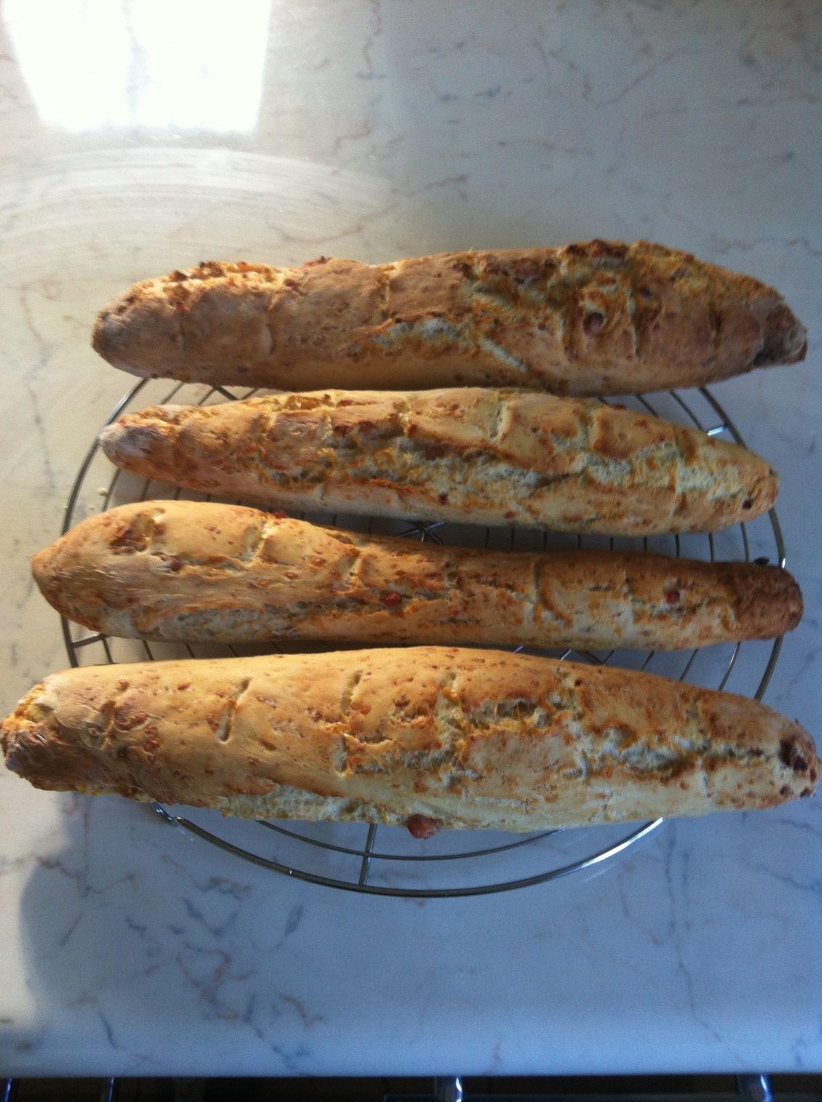 Baguettes jambon gruyère (thermomix)