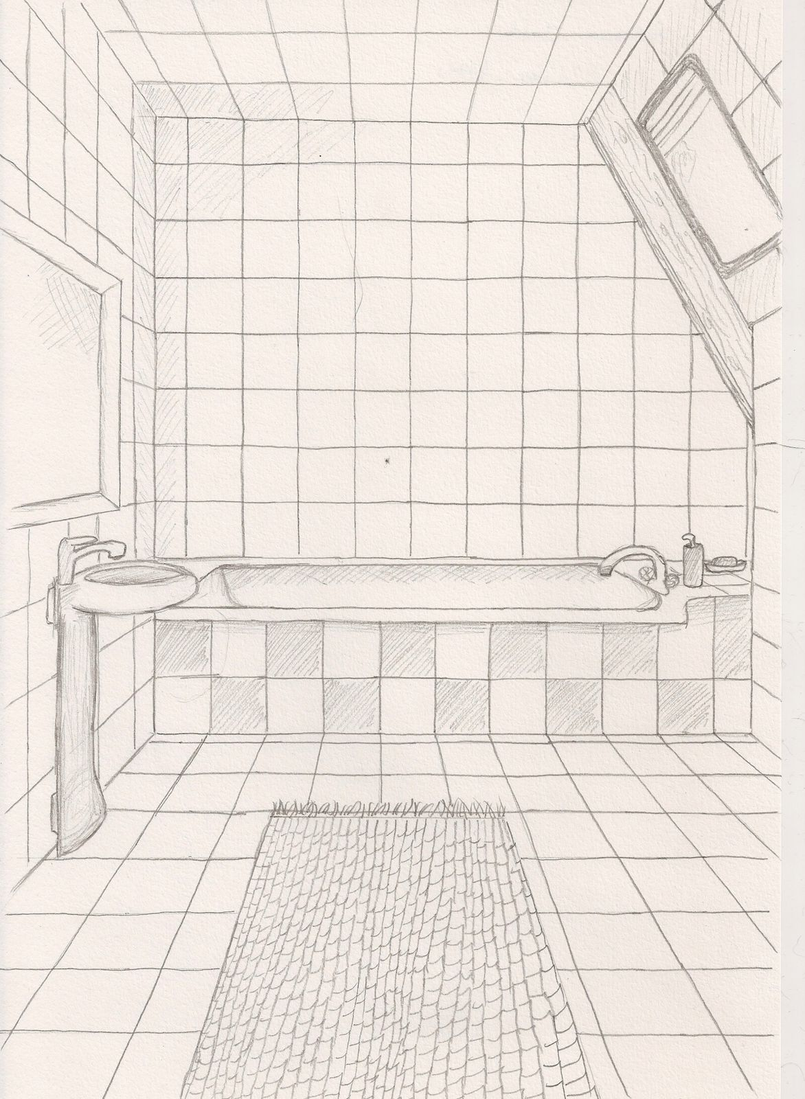 Initiation au dessin de perspective 1 christelle albrecht for Dessiner salle de bain gratuit