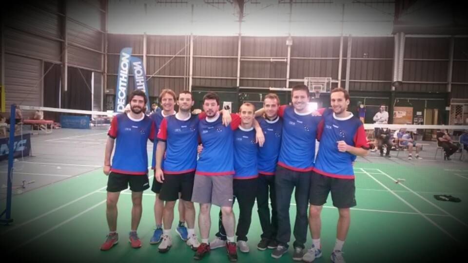 Let's finish on a happier note with the fantastic team of Racketlon France !