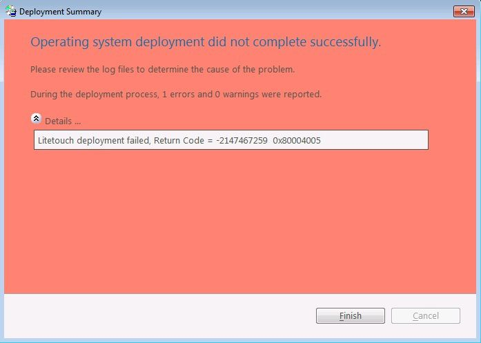 MDT : Liste des codes Error - IT EURIN fr