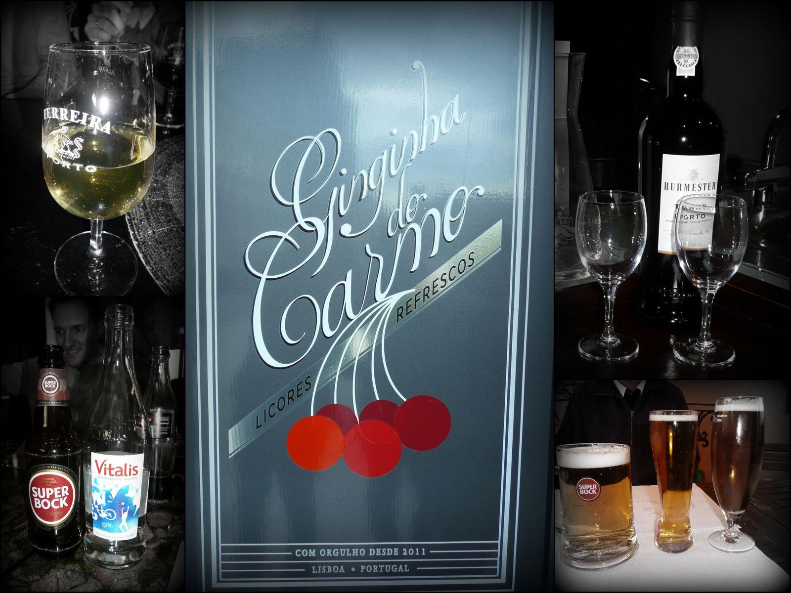Incontournable, lorsqu'on visite une ville entre copain, les boissons locales! Vinho verde, Porto, Super Bock et bien sûr la Ginja!