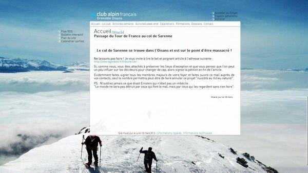 [Pétition Non au Tour de France à Sarenne] Actualités juridiques, relais associatifs