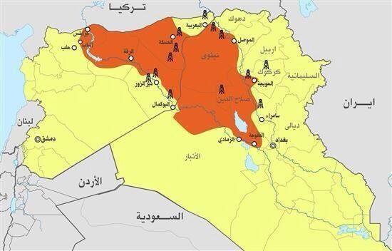 il territorio controllato da ISIS e le sue fonti di finanziamento primario