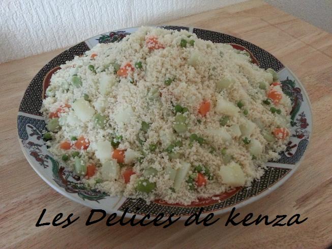 Mesfouf ou couscous aux legumes vapeur (Algerie)