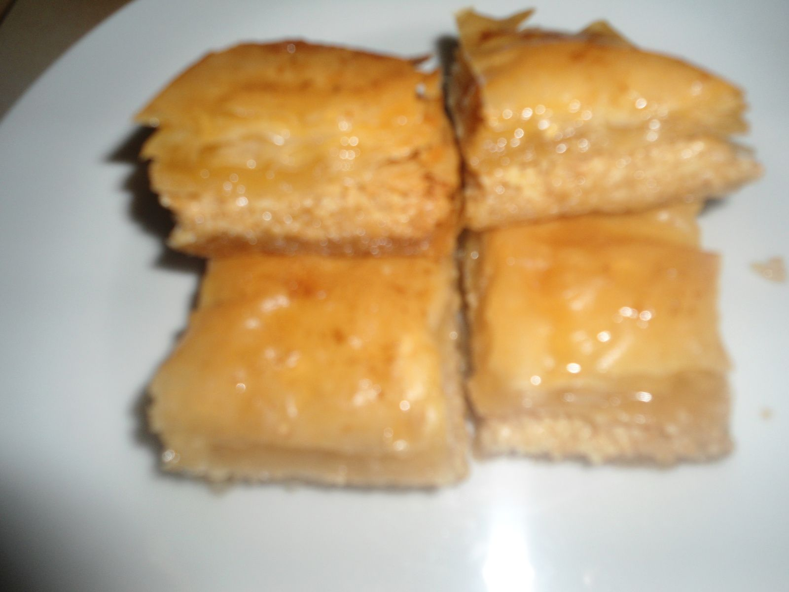 Baklawa aux amandes et pistaches