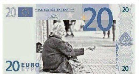L'euro de la misère vu par le journal satyrique grec, To Pontiki.