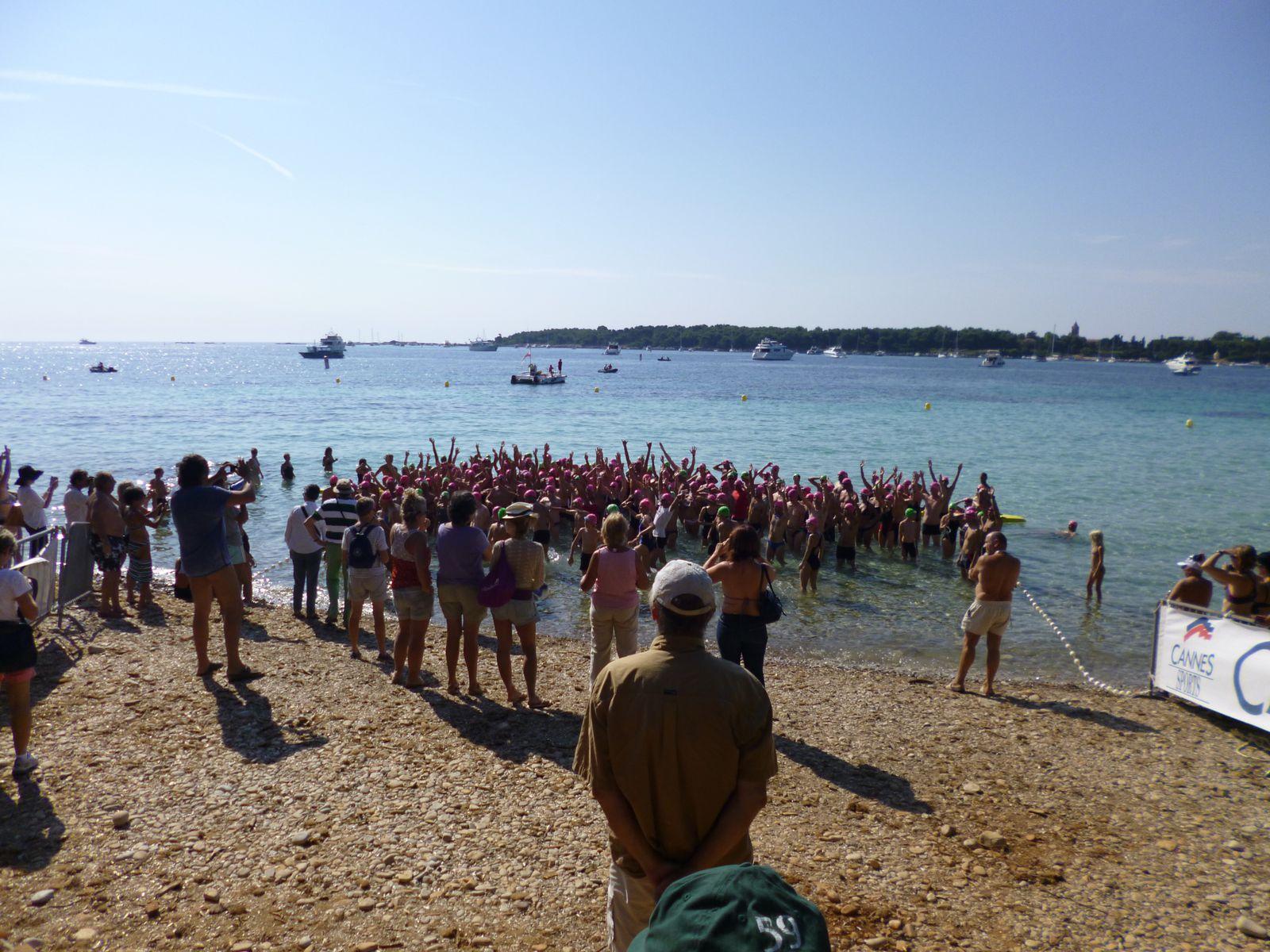 Quelques photographies des nageurs, du parcours et des médaillés.