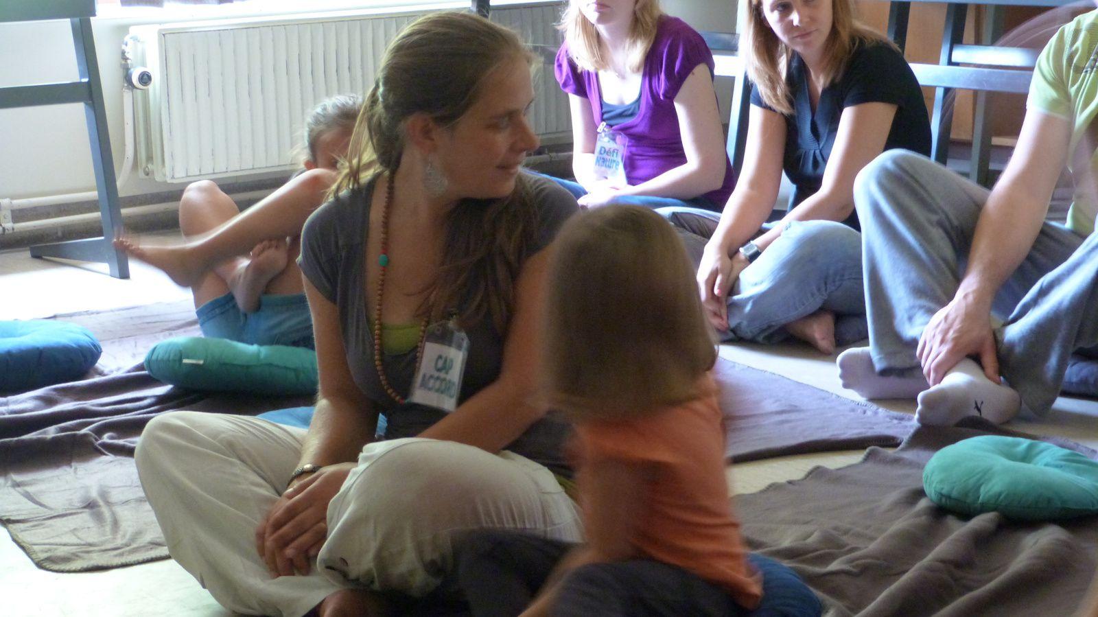 Méditation de pleine conscience au Kid's Day de Pont-à-Celles