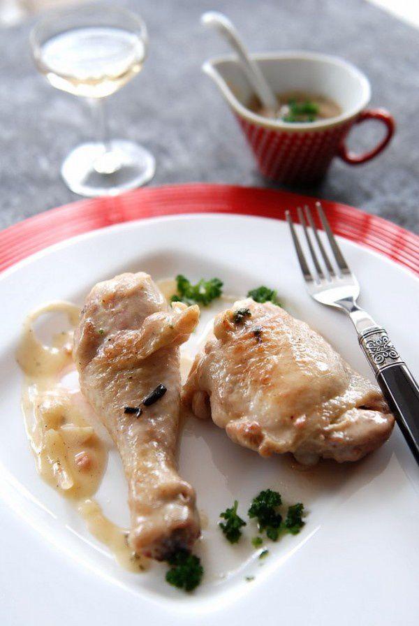 cuisses de poulet au vin blanc la cuisine des chefs