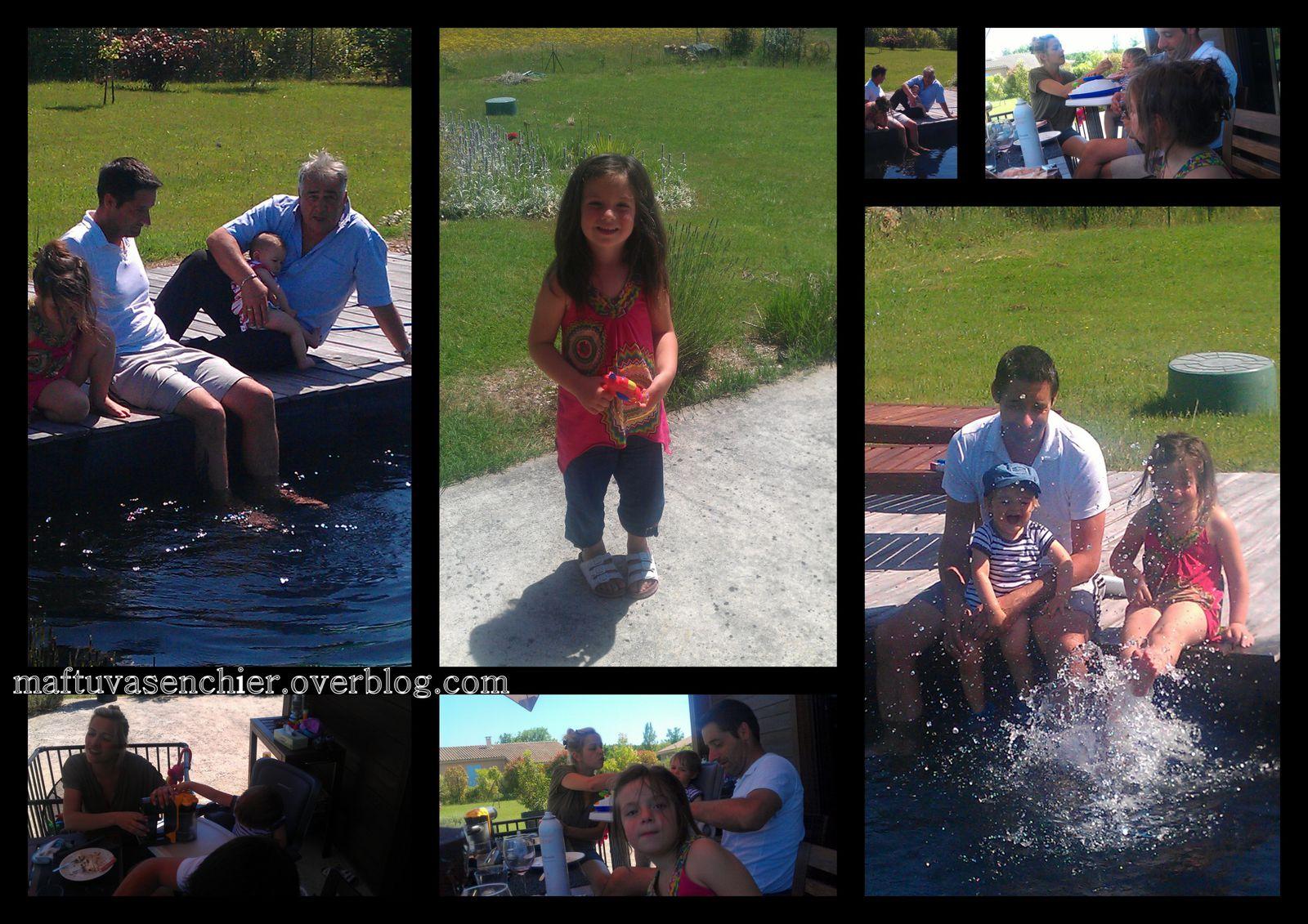 """la """"petite"""" famille, la belle-soeur, le beauf, le neveu, Malili et beau-papa. Du soleil, une piscine, de la bonne humeur,... elle est belle la vie parfois."""