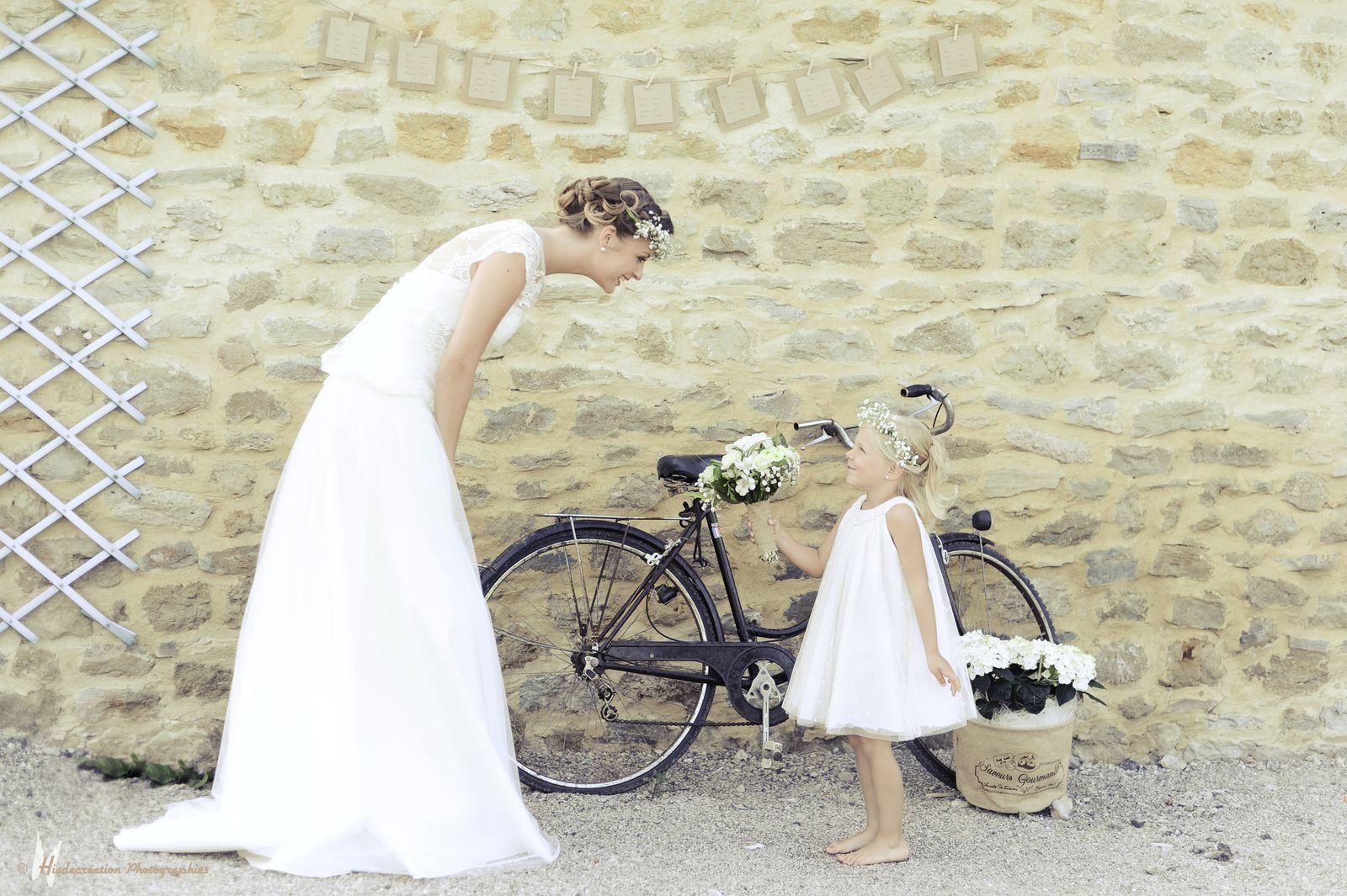 Le shooting avec Amandine (la mariée) Mélie ,Isaure Mahault & Charlie .