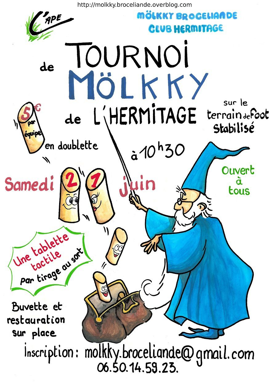 Tournoi de molkky de l'Hermitage le 21 juin 2014