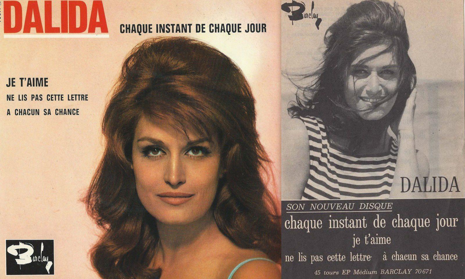 Le dernier EP 45 tours de la chanteuse ainsi que son affichette promotionnelle.