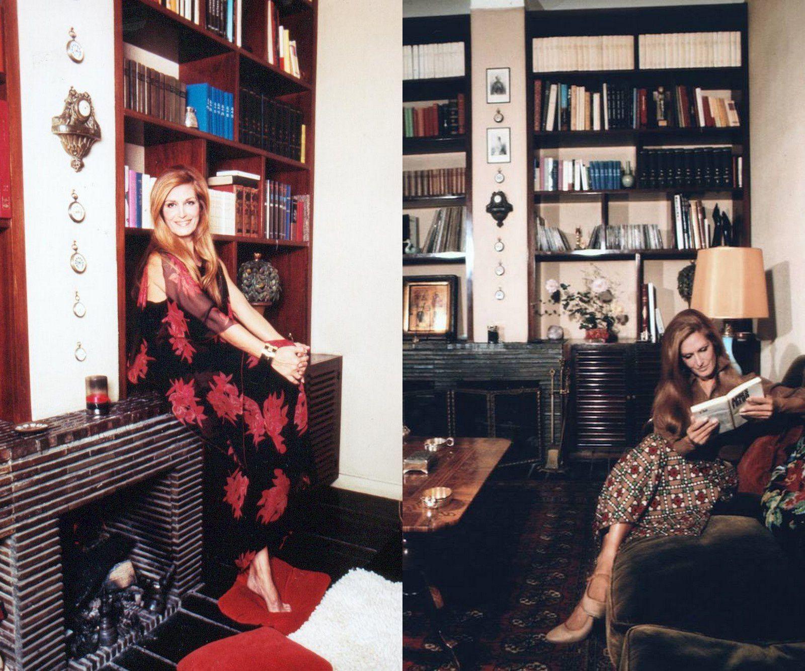 Au début des années 70, nombreux sont les journalistes qui se déplacent jusqu'à la maison de Montmartre. Dalida lisant Freud fait sourire bon nombre d'intellectuels, mais peu importe, Dalida présente fièrement le refuge que constitue sa bibliothèque! A chacune de ses lectures, la chanteuse s'accompagne d'un dictionnaire afin de définir les termes compliqués.