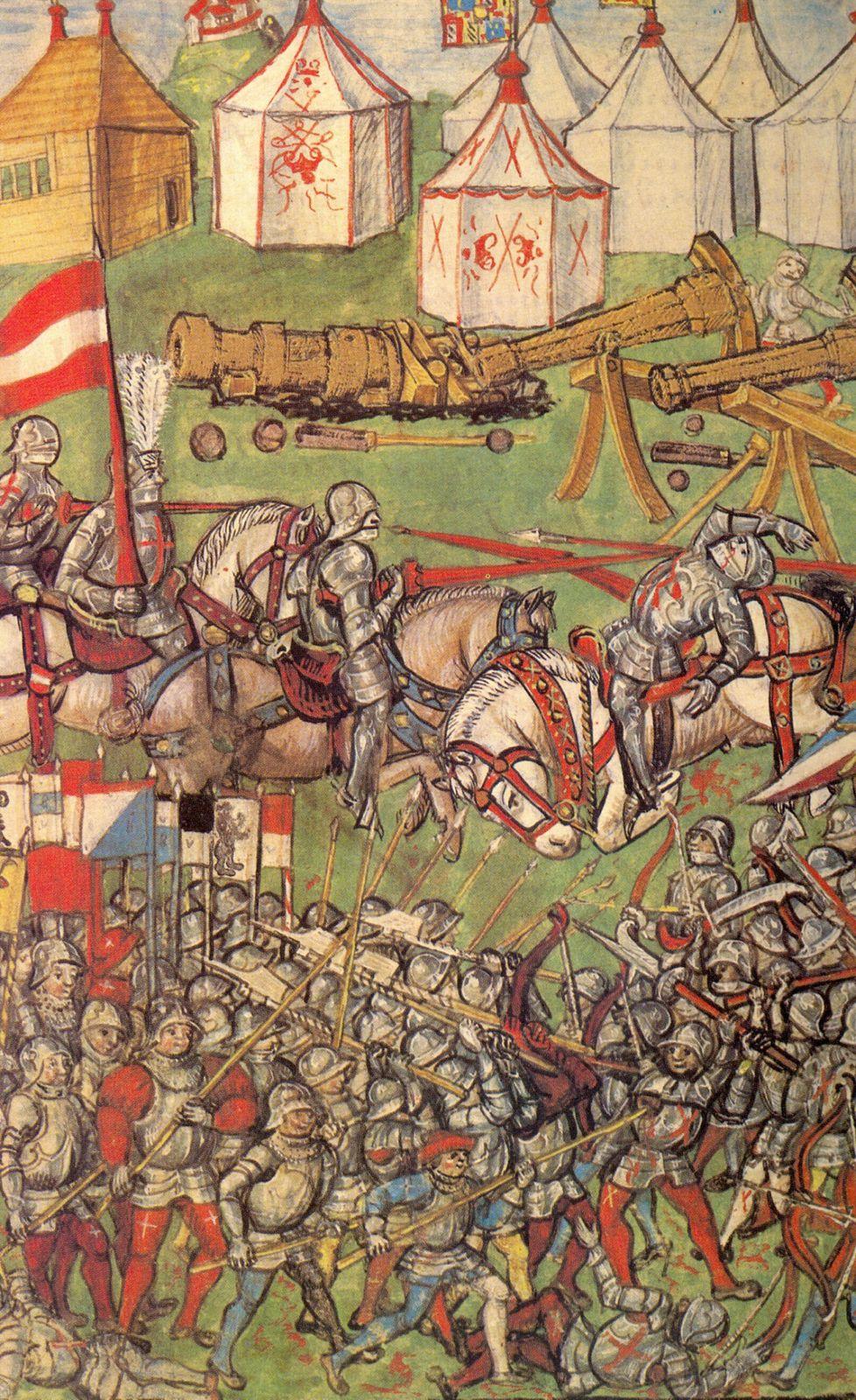 La bataille de Grandson, Chroniques du Lucernois Diebold Schilling, 1513 (© blogdefense.overblog.com)