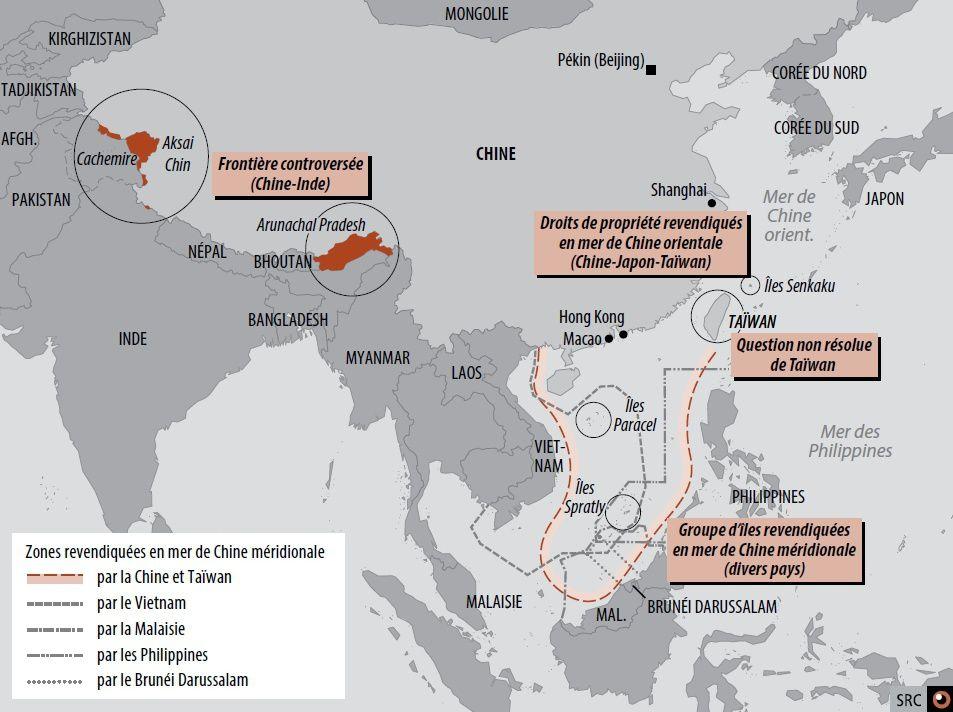 Conflits territoriaux en mer de Chine (© blogdéfense)