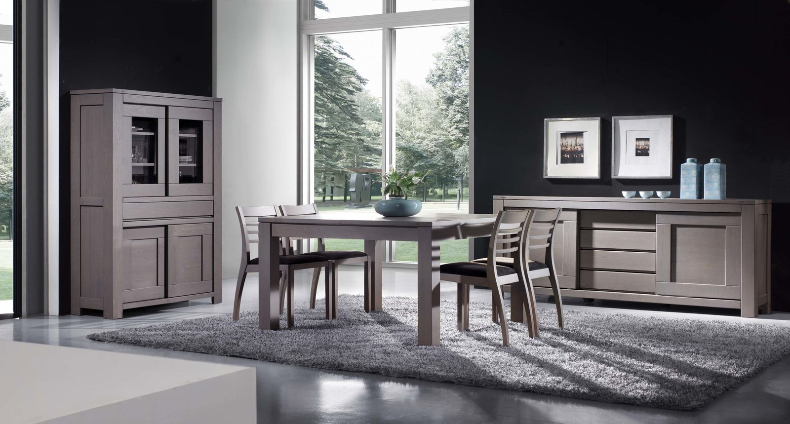 meubles contemporains en ch ne massif meublesdoudard. Black Bedroom Furniture Sets. Home Design Ideas