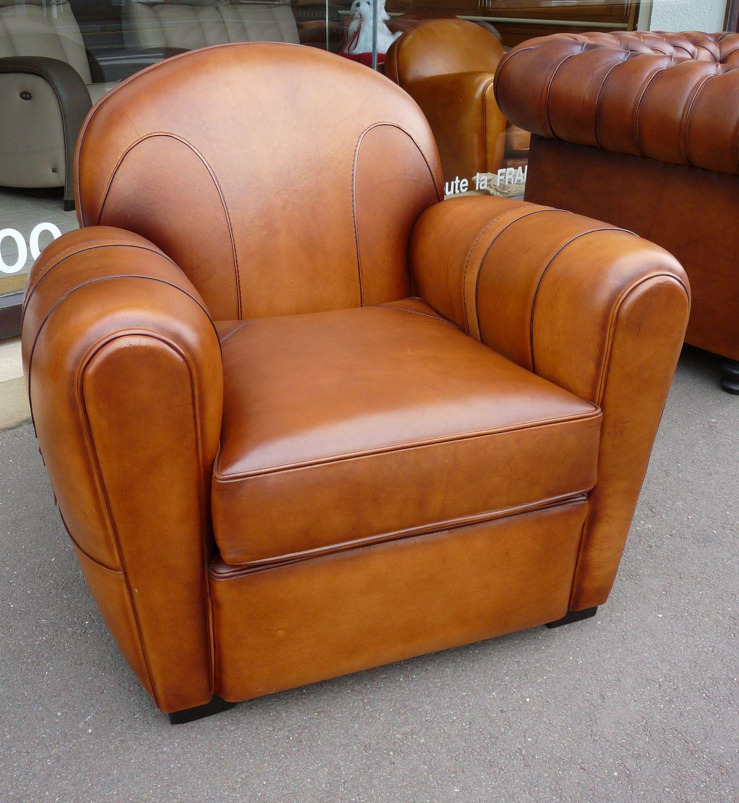 fauteuils club en cuir v ritable meubles doudard meubles en bois massif meubles doudard. Black Bedroom Furniture Sets. Home Design Ideas