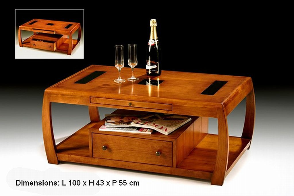 table basse de salon en merisier prix discount meubles doudard meubles en bois massif. Black Bedroom Furniture Sets. Home Design Ideas