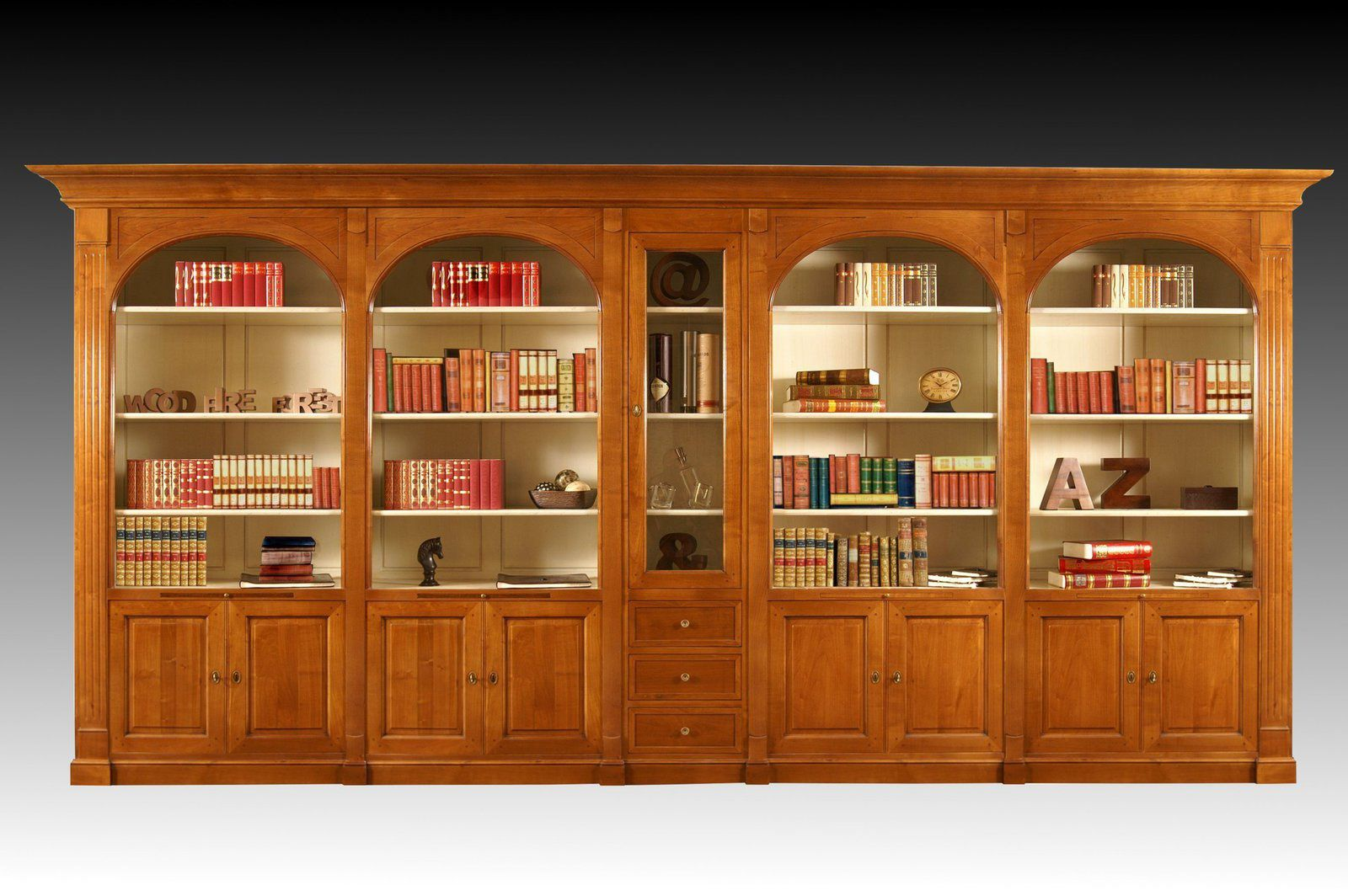 meuble biblioth que sur mesure en bois massif. Black Bedroom Furniture Sets. Home Design Ideas