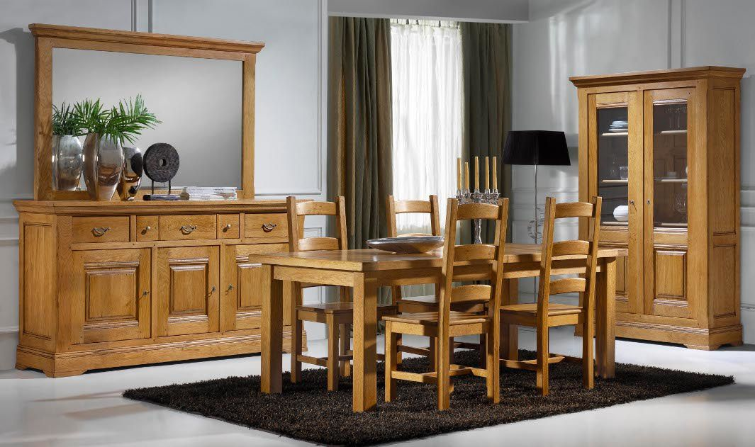 salle a manger campagnarde en chene. Black Bedroom Furniture Sets. Home Design Ideas
