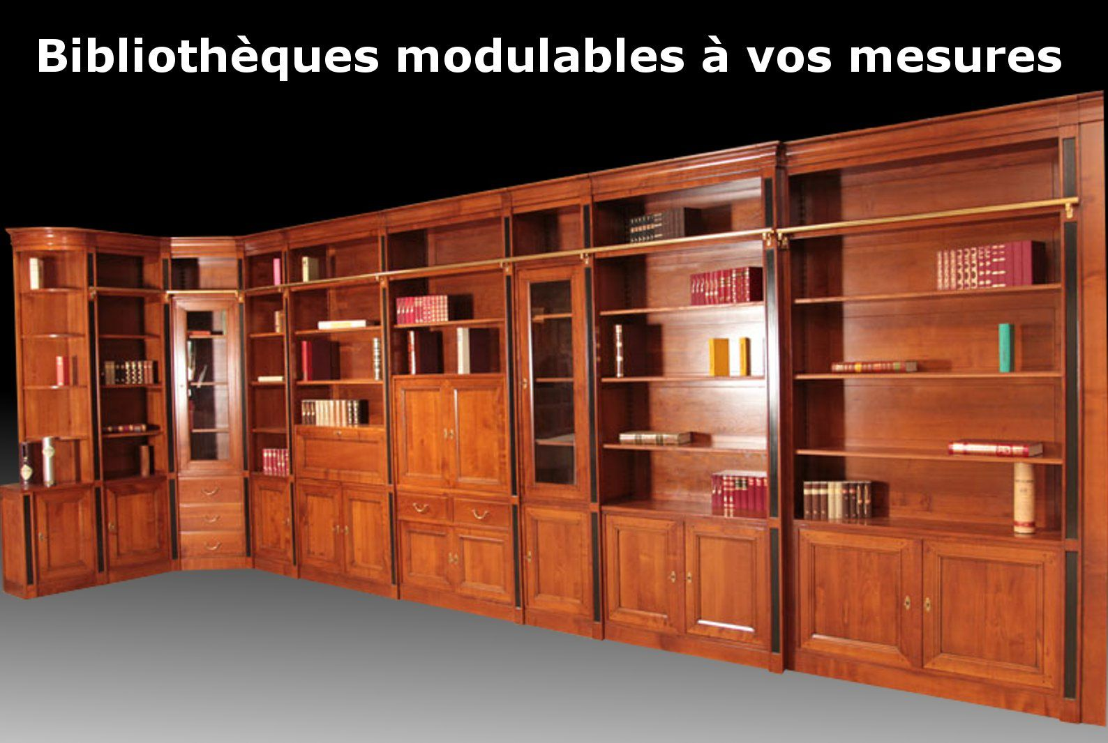 meubles biblioth ques sur mesure en bois massif. Black Bedroom Furniture Sets. Home Design Ideas
