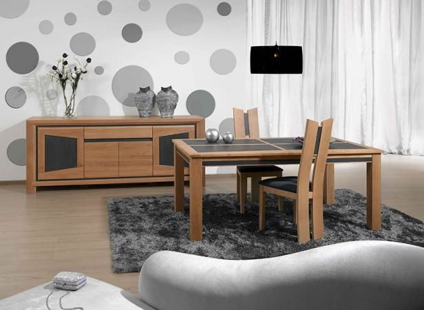 meubles de salle manger moderne en bois et c ramique. Black Bedroom Furniture Sets. Home Design Ideas