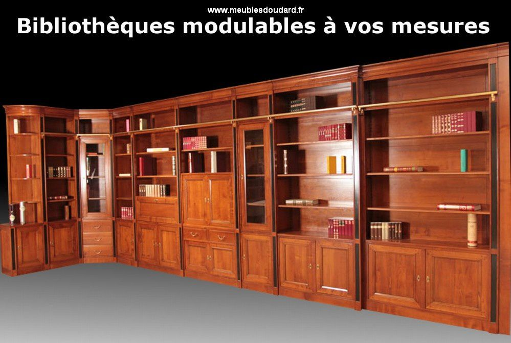 biblioth que en bois massif sur mesure. Black Bedroom Furniture Sets. Home Design Ideas