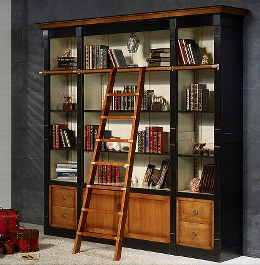 biblioth que en bois massif sur mesure meublesdoudard. Black Bedroom Furniture Sets. Home Design Ideas